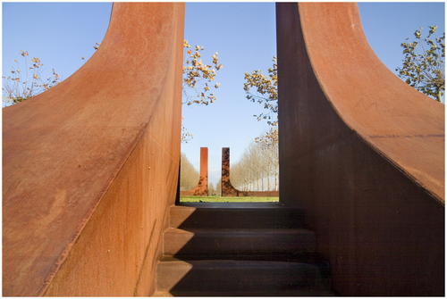 corten stairwell not so sure about this one but it looks great corten or rust steel or rusty steel is basically maintenance free on installed