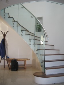 Attractive ... And We Have Fitted Curved Glass Panels To The Stairs And Landing Using  Machined And Polished Stainless Steel Fixing Brackets And We Have Also  Fitted A ...