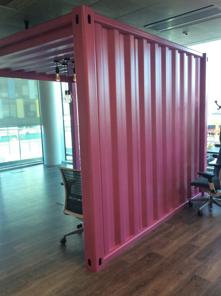 Shipping container meeting pod