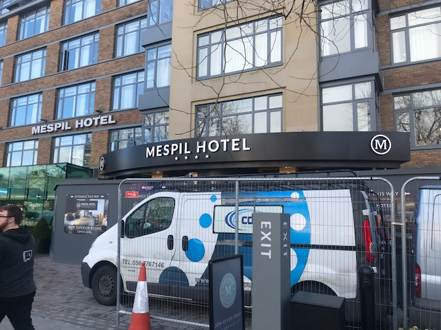 Site installation at The Mespil Hotel