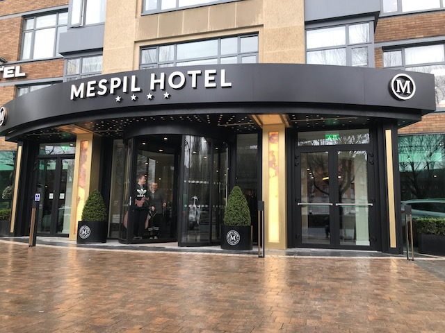 The new facade at The Mespil Hotel