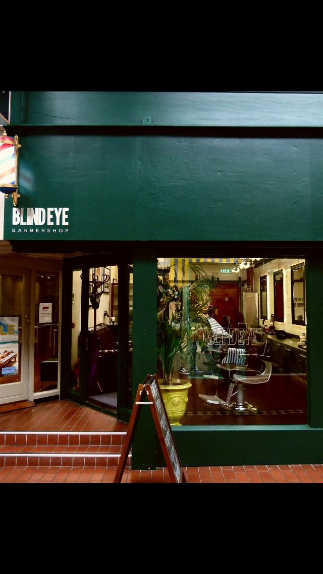 Blind eye Barber Shop, Georges Street, Arcade, Dublin.
